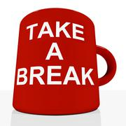 Stock Illustration of take a break mug showing relaxing and tiredness