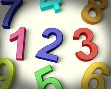 Kids numbers representing numeracy and education Stock Illustration