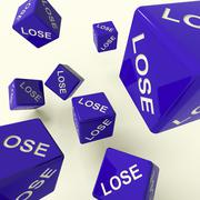 lose dice representing defeat and loss - stock illustration