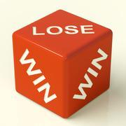 lose red dice represent gambling and losing - stock illustration