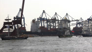 Stock Video Footage of Grand Arrival parade of Hamburg port anniversary