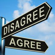 Stock Illustration of disagree or agree directions on a signpost