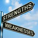 Stock Illustration of strengths or weaknesses directions on a signpost