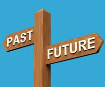 Past or future directions on a signpost Stock Illustration