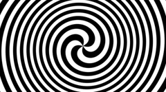 Hypnotic spiral Stock Footage