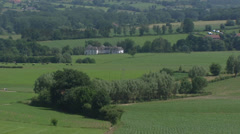 Authentic Farmhouse in valley, Landscape of South Limburg, The Netherlands Stock Footage