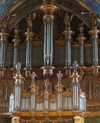 Albi (france), cathedral organ Stock Photos