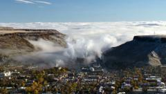 Fog Over Denver with Coors Brewery Stock Footage