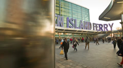 Staten Island Ferry Terminal Manhattan Transportation New York City NYC Stock Footage
