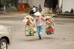 Vietnamese street vendor Stock Photos