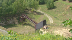 High angle view  Marl quarry t Rooth in the Dutch Province South Limburg Stock Footage