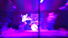 Rock Band on Stage Stock Footage