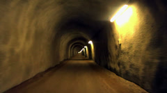 Ride through old looking tunnel HD Stock Footage