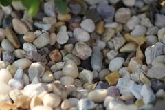 Pebbles with depth of field Stock Photos