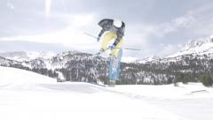 SKI_3JUMPS_IN_A_ROW_.MTS Stock Footage