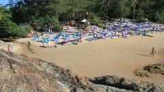 Ya Nui beach in Phuket island Stock Footage