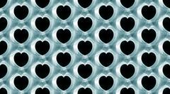 Seamless pattern smoke hearts Stock Illustration