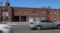 Glen Cove Volunteer Fire Department building (2 of 3) Stock Footage
