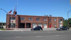 Glen Cove Volunteer Fire Department building (3 of 3) Stock Footage