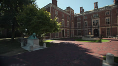 Exterior and grounds of Webb Institute (1 of 6) - stock footage