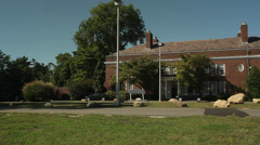 Exterior and grounds of Webb Institute (5 of 6) Stock Footage