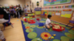 Indoor playtime in classroom (2 of 2) - stock footage
