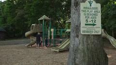 Playground at YMCA Stock Footage