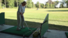 Woman at the driving range (1 of 2) Stock Footage