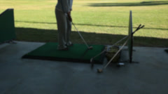 Woman at the driving range (2 of 2) Stock Footage