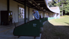 Man at the driving range (5 of 7) Stock Footage