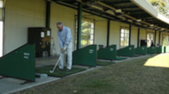 Man at the driving range (7 of 7) Stock Footage