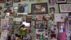Man getting haircut at barbershop (3 of 4) Stock Footage