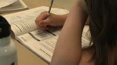 School children doing classwork (4 of 8) Stock Footage
