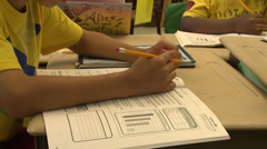 School children doing classwork (6 of 8) Stock Footage