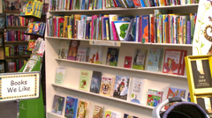 Inside a good bookstore (2 of 3) Stock Footage