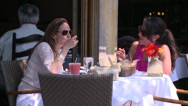 Stock Video Footage of Eating in the sunshine (6 of 7)