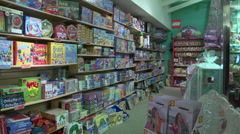 Game aisle in a store Stock Footage