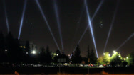 Stock Video Footage of Spotlight Laser Beams at Entertainment Red Carpet Arena Stadium