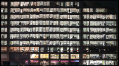 Stock Video Footage of Time-lapse of a London office close to London Bridge