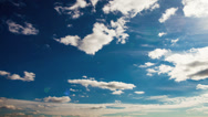 Stock Video Footage of White clouds timelapse on the blue sky