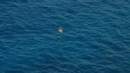 Stock Video Footage of Man snorkeling in open sea near Tenerife island.