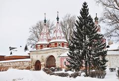 ancient russian convent in suzdal - stock photo