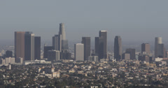 Ultra HD 4K UHD Los Angeles Downtown Skyline California United States Busy City Stock Footage