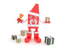 santa claus - 3d cartoon character - stock illustration