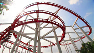 Stock Video Footage of Roller coaster