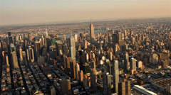 Aerial View of Manhattan - stock footage