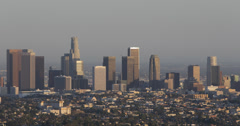 Ultra HD 4K Aerial View Los Angeles Downtown Cityscape Aerials Panoramic View LA Stock Footage