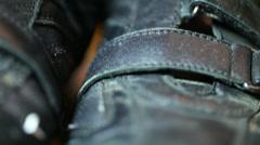 Scuffed scuff shoe 2 Stock Footage