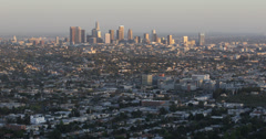 Ultra HD 4K Aerial View Los Angeles Downtown American Busy City Suburb District Stock Footage