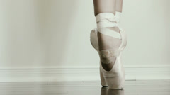 Royal Ballerina practicing a routine. - stock footage